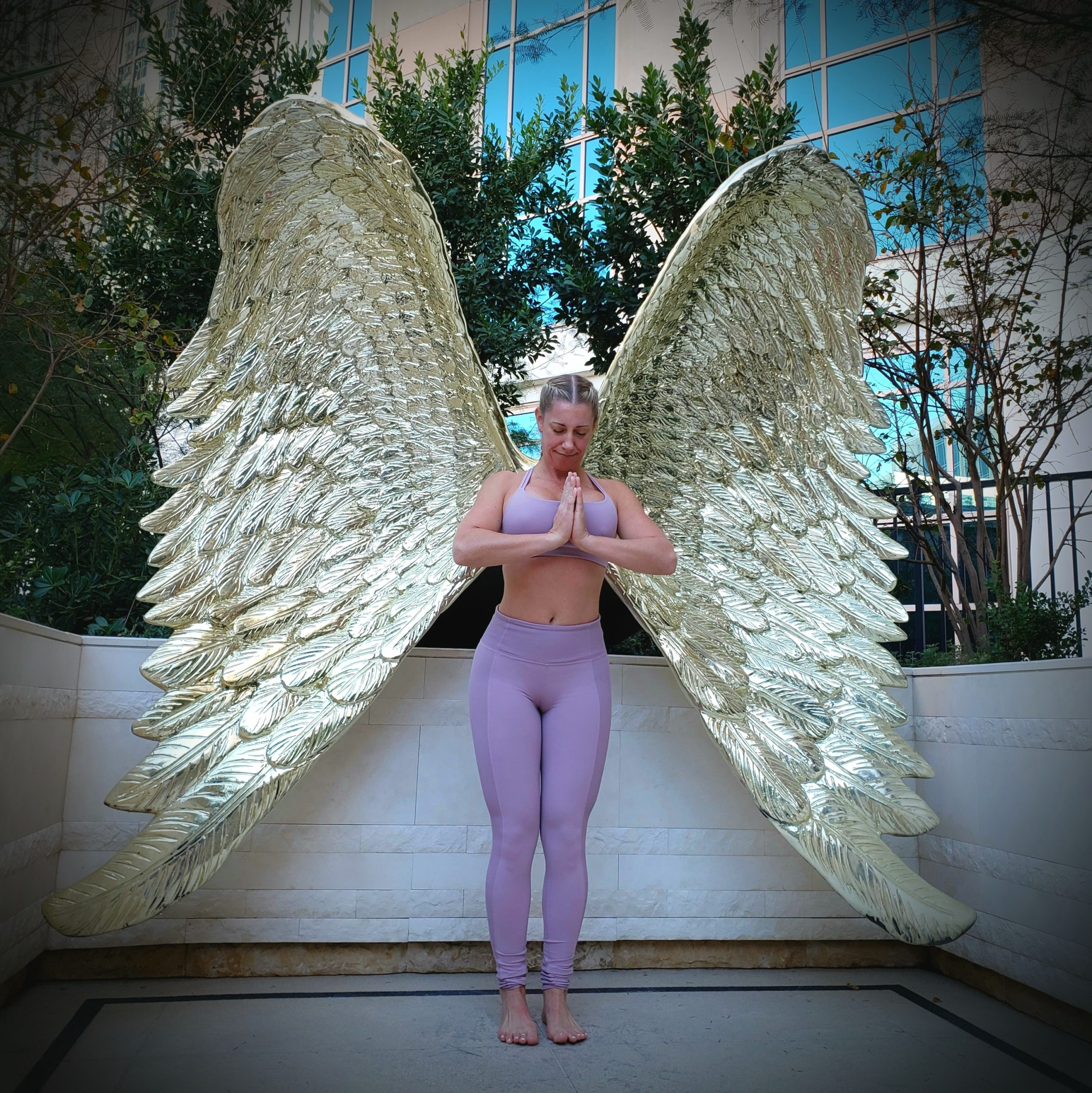 Julie with wings