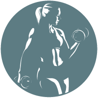 Julie's garage gym logo