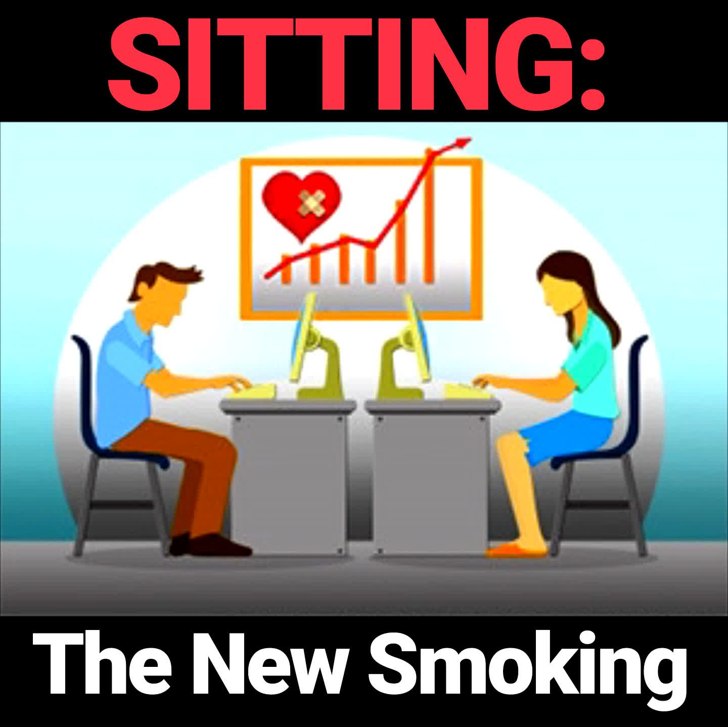 Sitting is bad graphic