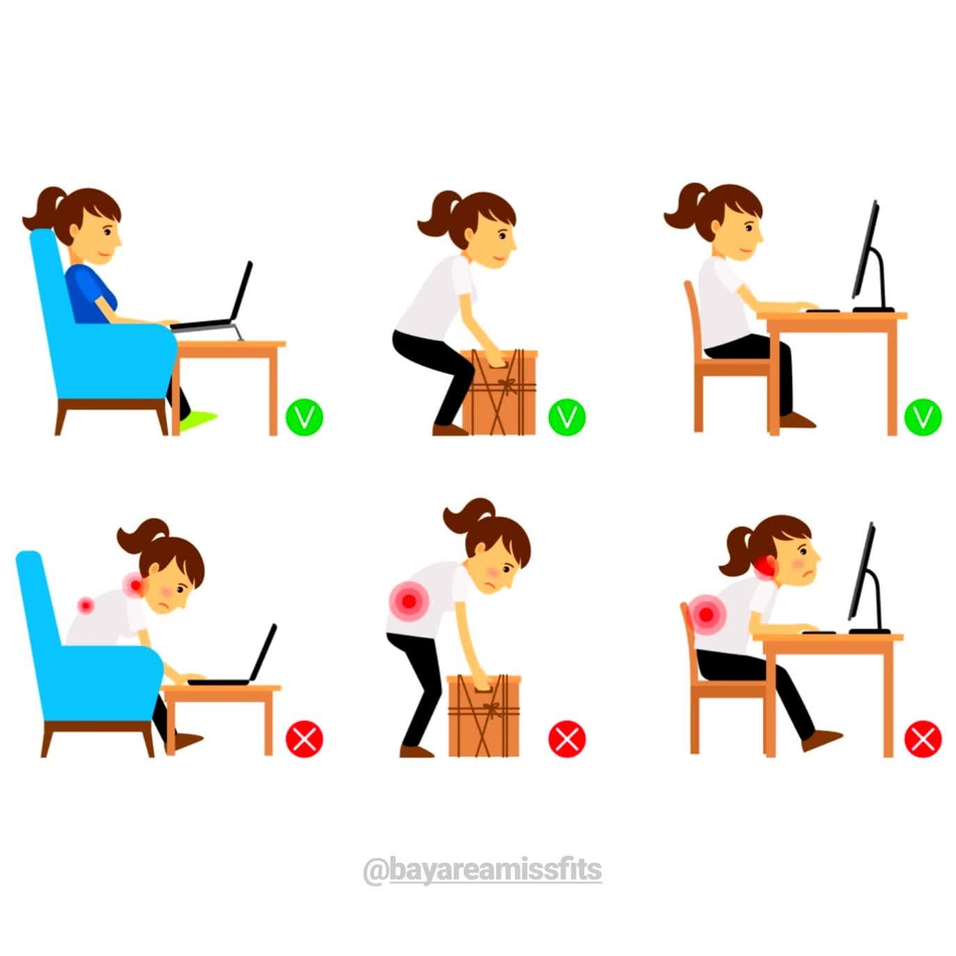 Correct posture graphic
