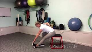 Arms reach exercise