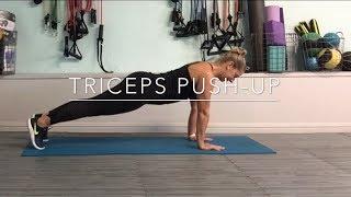 Triceps push-up