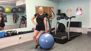 Julie with a bosu ball