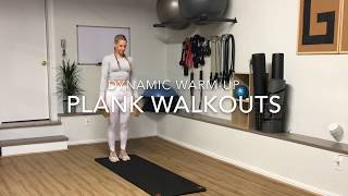 Plank walkout exercise