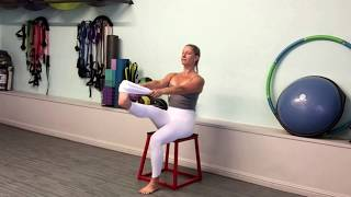 Seated leg stretch