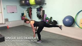 Single deadlift exercise
