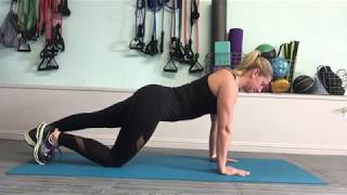 Plank with calf stretch